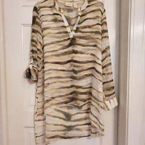 Zebra print tunic
